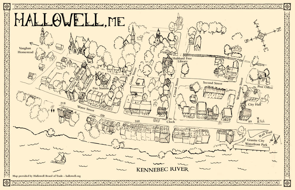 hallowell-Map