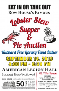 Row House Lobster Stew & Pie Auction 2019 @ American Legion Hall