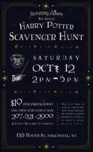 4th Annual Harry Potter Scavenger Hunt @ Scrummy Afters Candy Shoppe